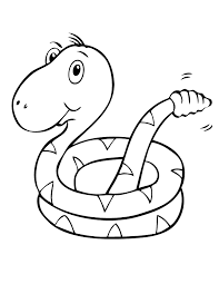 Cute Baby Snake Coloring Page