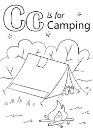 Click To See Printable Version Of Letter C Is For Camping Coloring Page