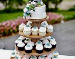 Rustic Cupcake Stand 4 Tier Tower Holder 50 Cupcakes 100 Donuts For Wedding