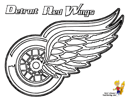 11 Detroit Red Wings Hockey At Coloring Pages Book For Kids Boysnhl