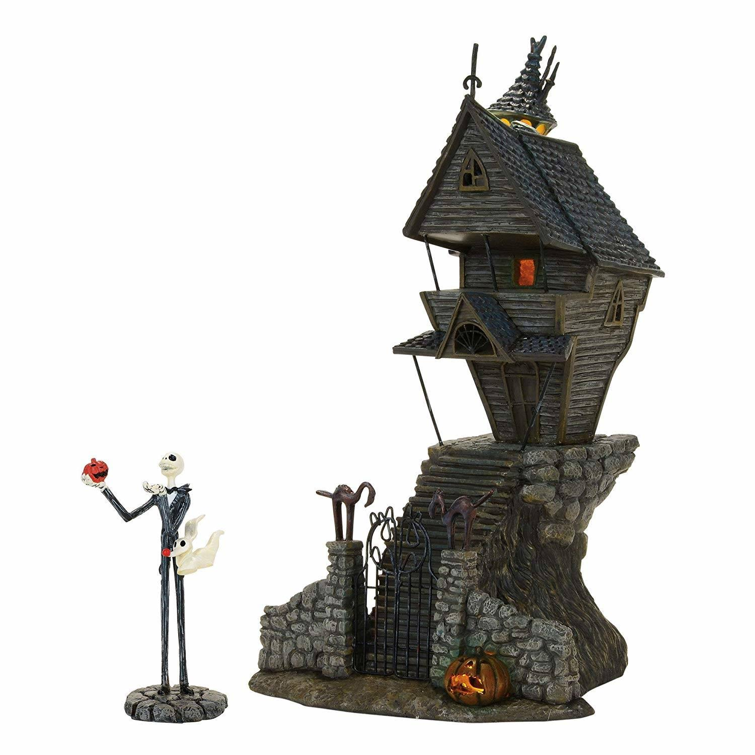 Department 56 H7 Halloween Nightmare Before Christmas Jack Skellington's House Decoration
