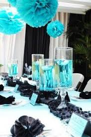 Black and Teal wedding reception Charity Martin but instead of