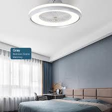 2019 led decke fan stufenlose dimmen einstellbar wind geschwindigkeit fernbedienung moderne led deckenleuchte für schlafzimmer wohnzimmer