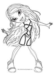 FREE PRINT AND COLOR BRATZ COLORING PAGES
