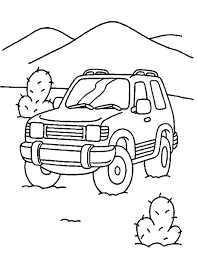 Car Transportation Coloring Page For Kids