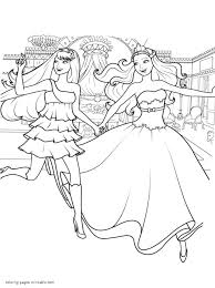 Barbie Coloring Pages The Princess Popstar With And Printable