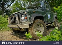 100 Land Rover Defender Truck Green 90 Cab Competing At The ALRC