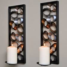 charming decorative wall sconces big candle lights on with wall