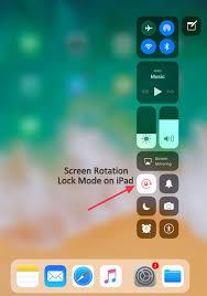 Turn ON f Auto Rotate iPhone Screen Orientation Lock iOS 11 iPad