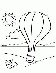 Print Hot Air Balloon Coloring Page