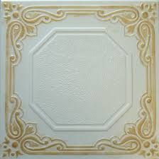 Styrofoam Ceiling Tiles 24x24 by Faux Finish Styrofoam Ceiling Tile R32 Gold Plated White Just Glue