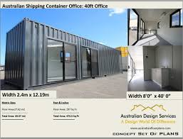 104 40 Foot Shipping Container Transportable Office Office Etsy
