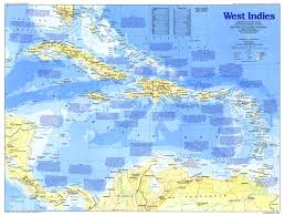 1987 West Indies Map Side 1