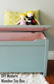 diy modern wooden toy box with lid a step by step tutorial the