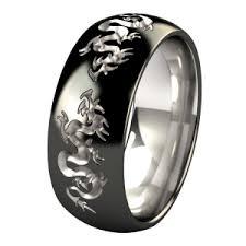 Liung Dome Black Titanium Ring