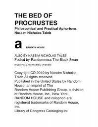 the bed of procrustes nassim taleb pdf get a free blog here
