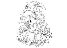 Faerie Coloring Pages Fairy Colouring Cute Fairies