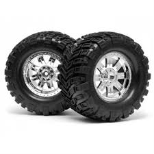 HPI Mounted Super Mudders TireRingz Wheel Shiny (HPI4726) | RC Planet