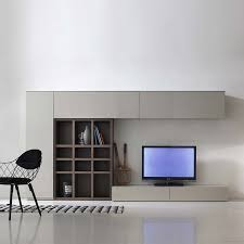 Modern Italian TV Media Unit Grey Wood By Santa Lucia Tv Wall UnitsLiving Room