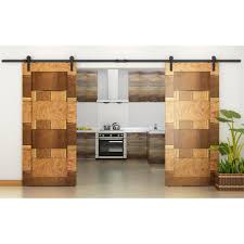 Barn Door Roller Kit. Homedeco Hardware 10 Ft Rustic Sliding Wood ... Rolling Barn Doors Shop Stainless Glide 7875in Steel Interior Door Roller Kit Everbilt Sliding Hdware Tractor Supply National Decorative Small Ideas Sweet John Robinson House Decor Bypass Diy Tutorial Iu0027d Use Reclaimed Witherow Top Mount Inside Images Design Fniture Pocket Hinges Installation