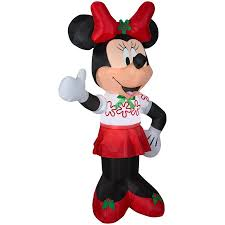 Disney 6ft Lighted Minnie Mouse Christmas Inflatable At Lowescom