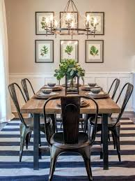 Country Farmhouse Dining Room Table And Chairs With Best Of Decor