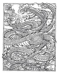 Advanced Coloring Pages For Adults Difficult Dragons Free
