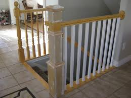 Remodelaholic | Stair Banister Renovation Using Existing Newel ... How To Calculate Spindle Spacing Install Handrail And Stair Spindles Renovation Ep 4 Removeable Hand Railing For Stairs Second Floor Moving The Deck Barn To Metal Related Image 2nd Floor Railing System Pinterest Iron Deckscom Balusters Baby Gate Banister Model Staircase Bottom Of Best 25 Balusters Ideas On Railings Decks Indoor Stair Interior Height Amazoncom Kidkusion Kid Safe Guard Childrens Home Wood Rail With Detail Metal Spindles For The