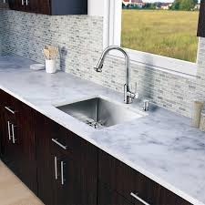 Overstock Stainless Steel Kitchen Sinks by Vigo All In One 23 Inch Stainless Steel Undermount Kitchen Sink