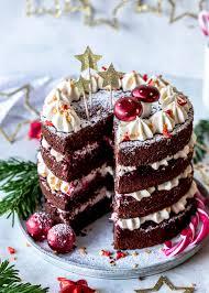 spekulatius schoko kirsch torte mit zimtcreme