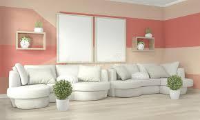 interieur ideen wohnzimmer wohnzimmer mit korallen geometric