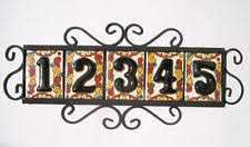 Mexican Tile House Numbers With Frame by Tile House Numbers Frame Ebay