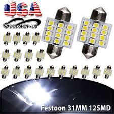 20x white 31mm 12smd festoon interior dome led light l bulb
