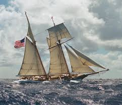 Hms Bounty Replica Sinking by Privateer Schooner