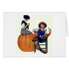 Cheater Cheater Pumpkin Eater Nursery Rhyme by Pumpkin Eater Cards Greeting U0026 Photo Cards Zazzle