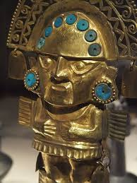 Viva Decor Inka Gold Emerald by Detail Of Ceremonial Knife Tumi Chimu Peru 1100 Ce 1450 Ce Gold