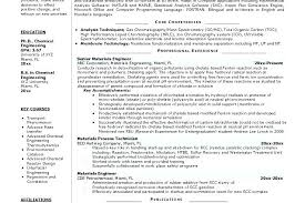 Chemical Engineer Resumes Engineering Examples Materials Physic Co Mechanical Internship Resume Sample