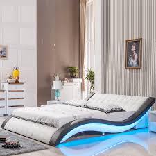 2017 modern design soft leather bed 150 or 180 optional