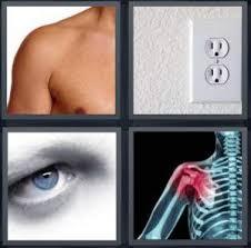 4 Pics 1 Word Answer for Armpit Outlet Eye Shoulder