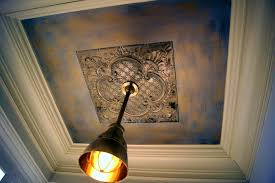 decoration mesmerizing hand painted tin ceiling medallion south