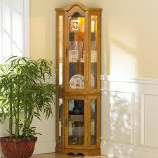 furniture hemnes corner curio cabinet ikea with glass door in