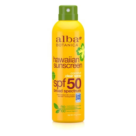 Alba Botanica Hawaiian Coconut Spray Sunscreen SPF 50 - 6oz