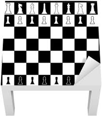 Chess Board Layout Lack Table Veneer