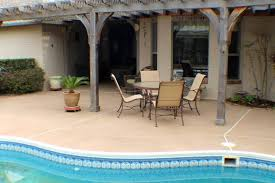 pool deck resurfaced cool deck finish integral buff color