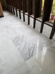Mapei Thinset For Glass Tile by Carrera Marble Floor Installation In Beauclerc Area