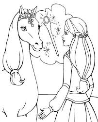 Barbie Horse Coloring Page Print And Download Area