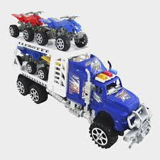 100 Semi Truck Toy Police Friction Powered And Trailer Play Set
