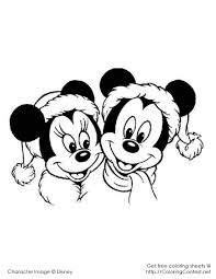 Dazzling Mickey Mouse Christmas Coloring Pages Cartoon Printable In Amazing