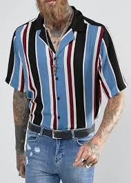 Reclaimed Vintage Inspired Revere Shirt In Stripe Reg Fit From ASOS Ad Men