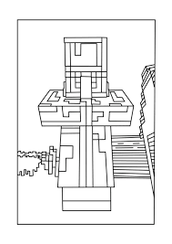 Villager Chicken Minecraft Coloring Pages